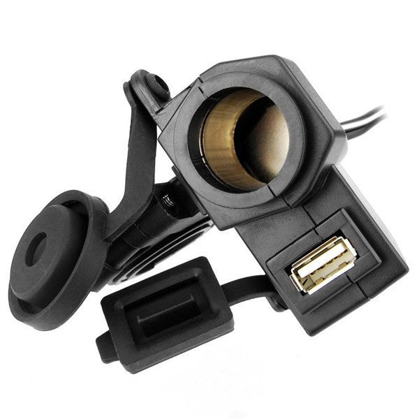 Waterproof Cigarette Lighter USB Integration for Motorcycle - Bike 'N' Biker