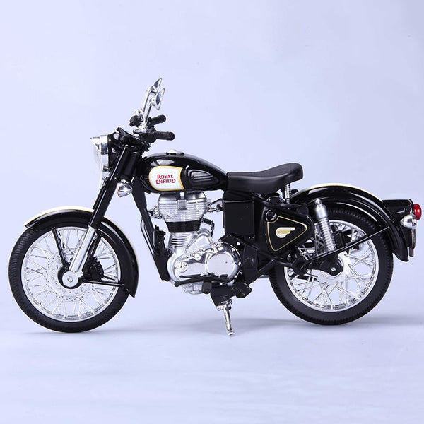 Royal Enfield Classic 500 1:12 Scale Model Black - Maisto