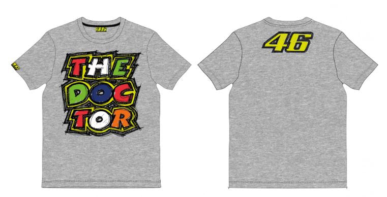 VR46 The Doctor T-Shirt - Grey