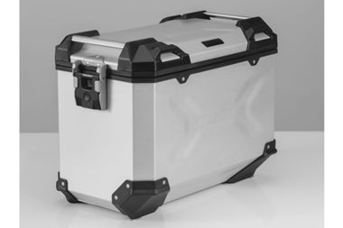 TRAX ADV Side case Aluminium 45 L Silver/Black - SW-Motech - Bike 'N' Biker