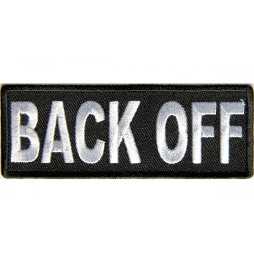 Back Off Patch - Bike 'N' Biker