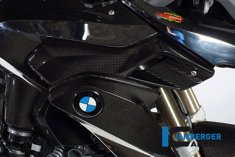 Carbon Upper Water Cooler Cover, Right for BMW R1200GS LC - Ilmberger Carbon