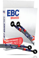 Kawasaki Er 6F/Ninja 650 and Er 6N EBC Steel Braided Brake Lines