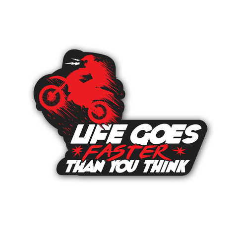 Life goes faster - Sticker - Inline-4