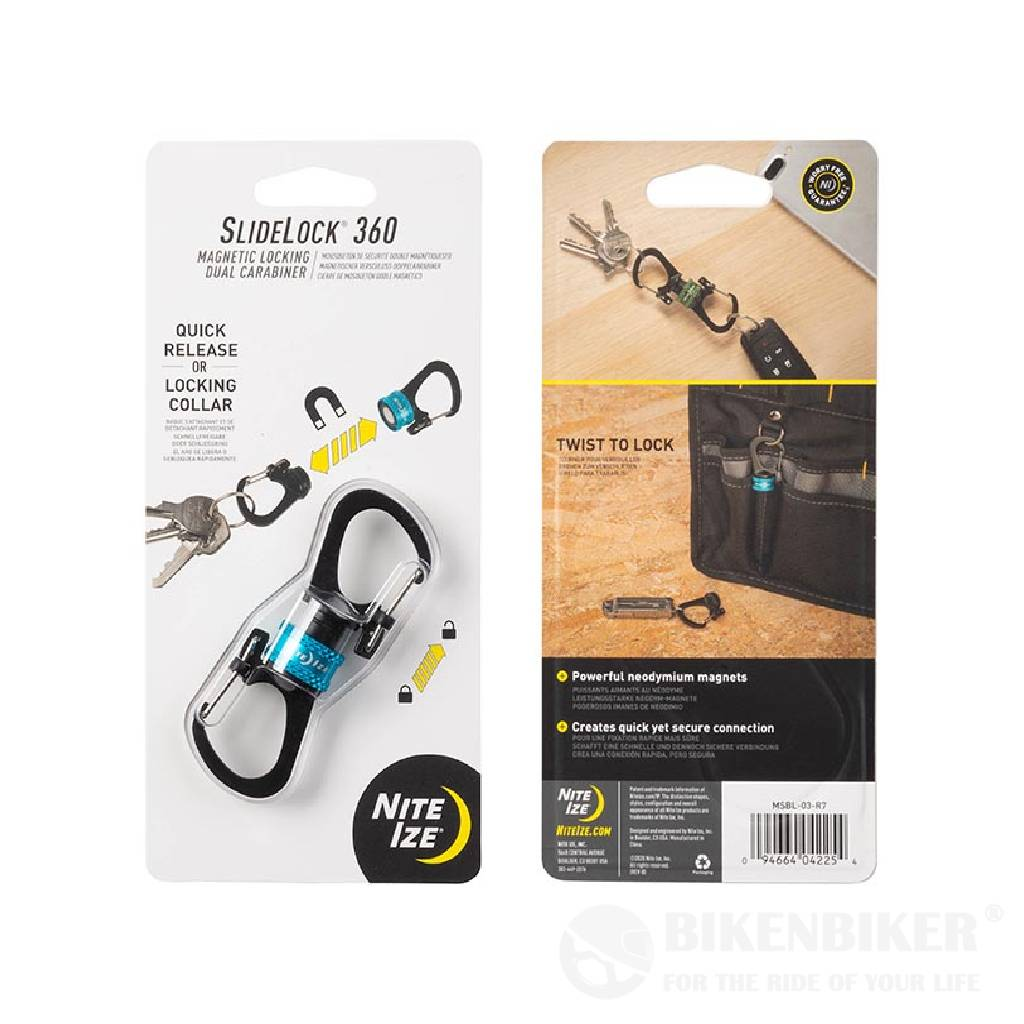 Slidelock® 360° Magnetic Locking Dual Carabiner