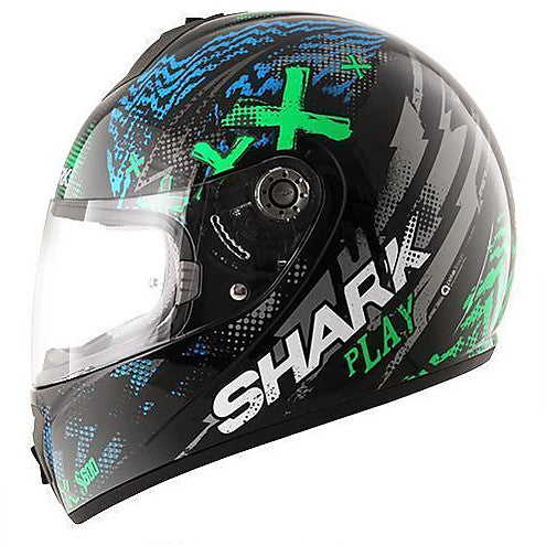 Shark S600 Pinlock Play - Blue/Green