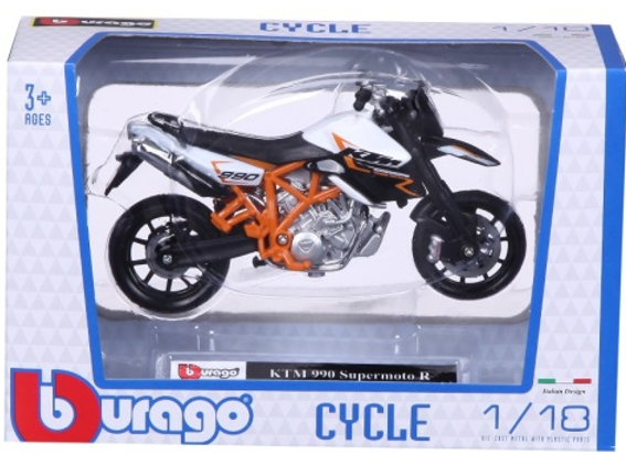 Burago KTM 990 Supermoto R 1:18 Scale Model