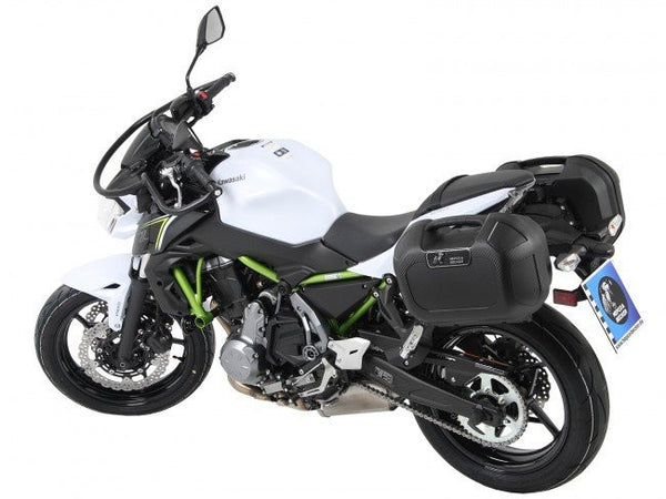 Kawasaki Z 650 Soft Sidecase (C-Bow) Carrier - Hepco & Becker - Bike 'N' Biker