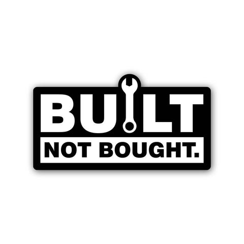 Built not bought - Sticker - Inline-4