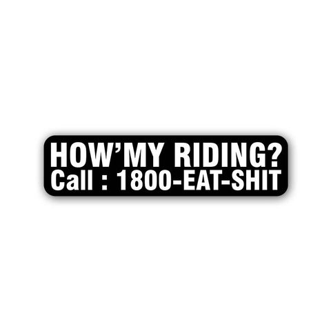 How'my Riding? - Sticker - Inline-4