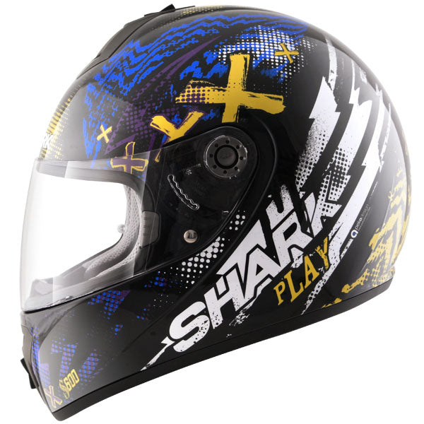 Shark S600 Pinlock Play - Black/Yellow/Blue