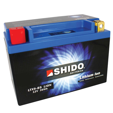 LTX9BS Lithium-Ion Motorcycle Battery - Shido
