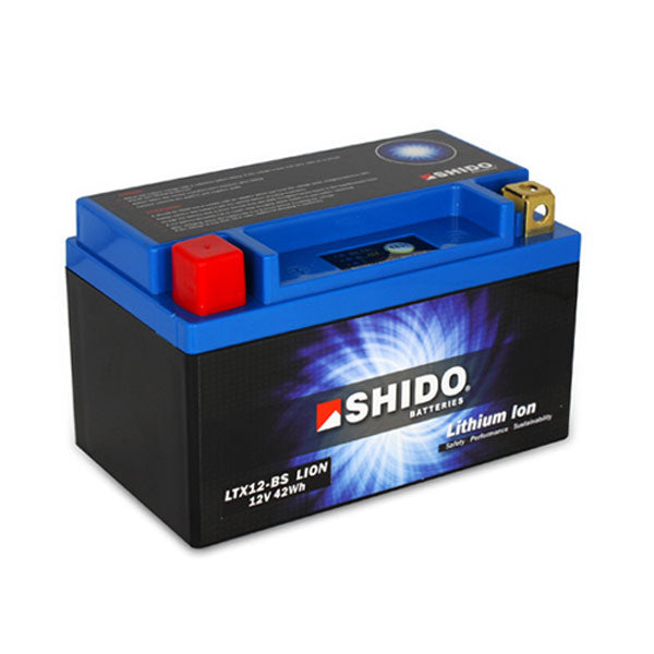 Shido Lithium Motorcycle Battery - LTX12BS LION - Bike 'N' Biker