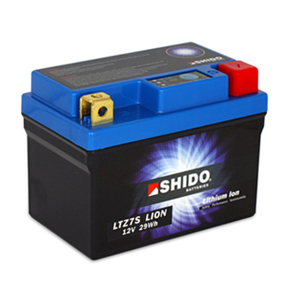Shido Lithium Motorcycle Battery - LTZ7S LION