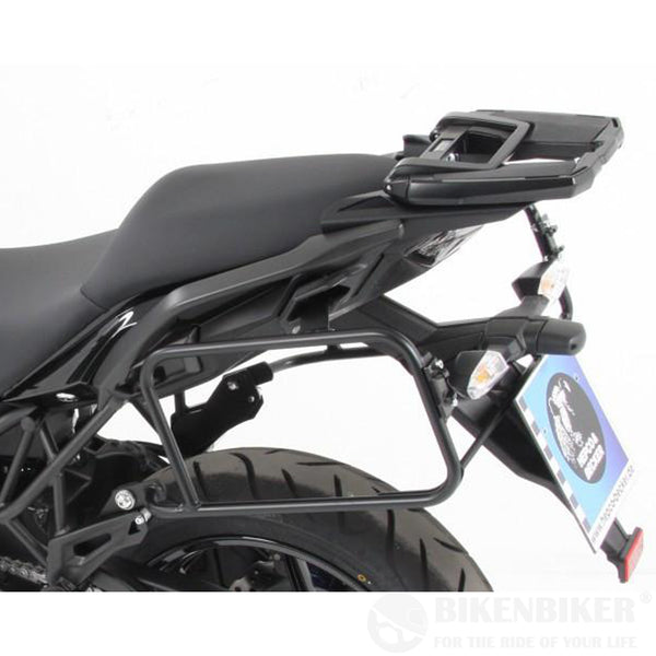 "Kawasaki Versys 650 Side Carrier - Quick Lock (''Lock it"") (Black) - Hepco & Becker"