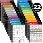 "22-PACK LAMINATED HOME GYM EXERCISE POSTERS 20""x 30"""