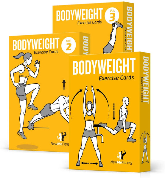 "3-Pack Exercises Cards Bodyweight Volume 1,2,3- 3.5""x 5.5"""
