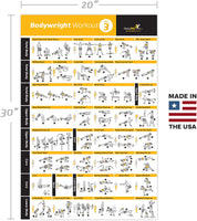Bodyweight Exercise Poster Vol 3 - Laminated