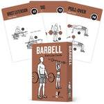 "Barbell Exercise Cards - Plastic - 3.5""x5.5"""