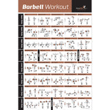 Barbell Exercise Poster - Laminated