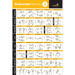 Bodyweight Exercise Poster Vol. 2 - Laminated
