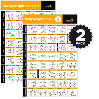 "Bodyweight Exercise Poster Vol. 1+2 2-Pack - Laminated - 20""x30"""