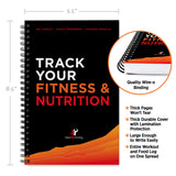 Fitness and Nutrition Combo Tracking Journal 5.5 x 8.5""