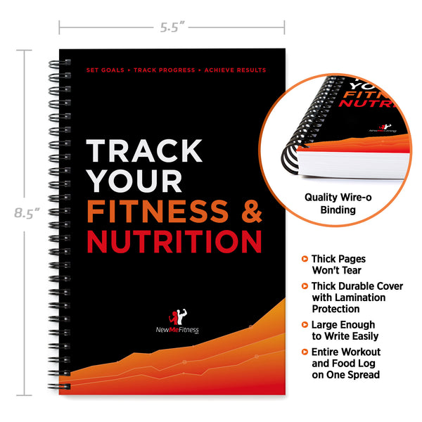Fitness and Nutrition Combo Tracking Journal 5 5 x 8 5