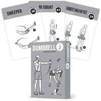 "Dumbbell Exercise Cards Vol 2- Plastic - 3.5""x 5.5"""