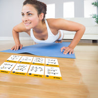 "Bodyweight Exercise Cards - Plastic - 3.5""x5.5"""