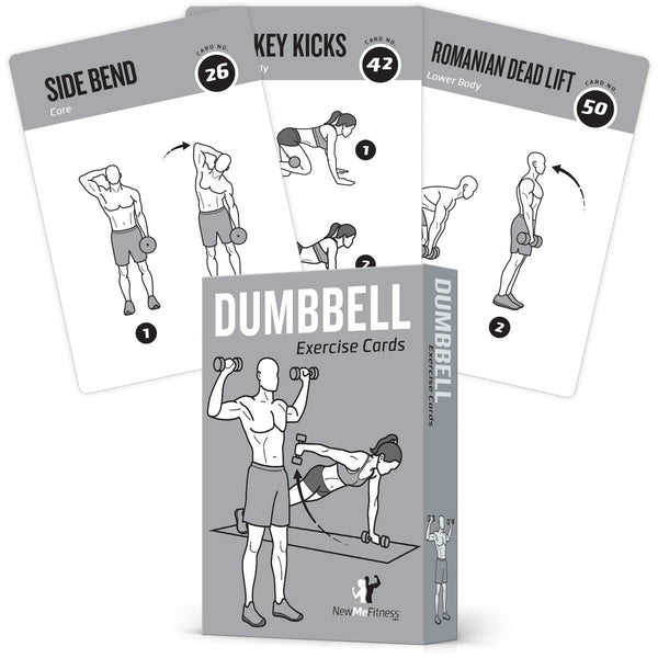"Dumbbell Exercise Cards - Plastic - 3.5""x 5.5"""