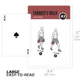 "Kettlebell Exercise Cards - Plastic - 3.5""x5.5"""