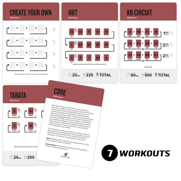 Kettlebell Exercise Cards