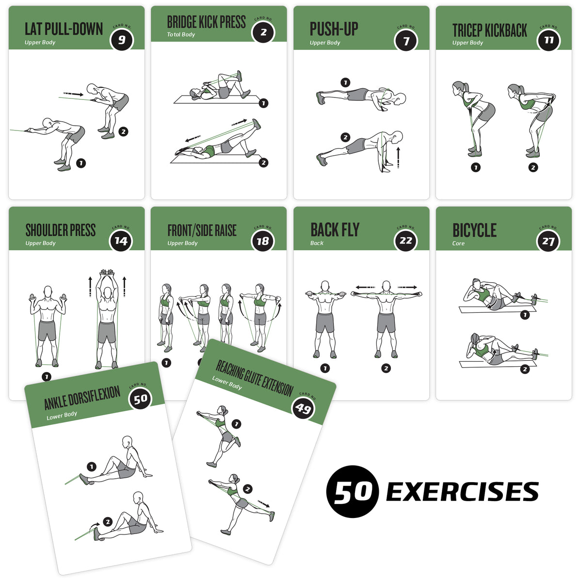 Delicate image for printable exercise cards