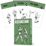 "Resistance Band Exercise Cards - Plastic - 3.5""x5.5"""