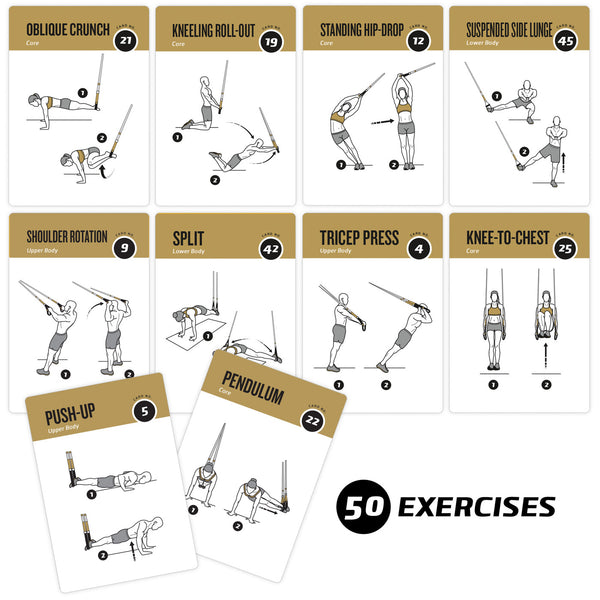 photo about Printable Trx Workouts called TRX Suspension Conditioning Exercise session Playing cards - Plastic - 3.5\