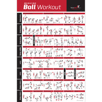 Medicine Ball Exercise Poster - Laminated