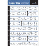 "Core Slider/Glider Disc Exercise Poster - Laminated - 20""x30"""