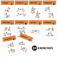 "Stability Exercise Cards - Plastic - 3.5""x5.5"""