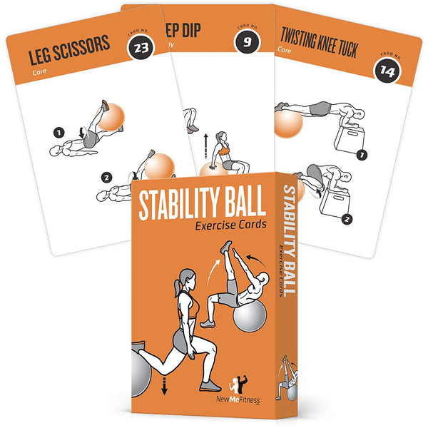"Stability Exercise Cards - Plastic - 3.5""x 5.5"""