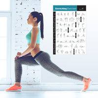 "Stretching Flexibility Exercise Poster - Laminated - 20""x 30"""