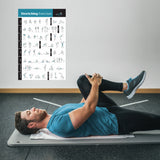 Stretching Flexibility Exercise Poster - Laminated