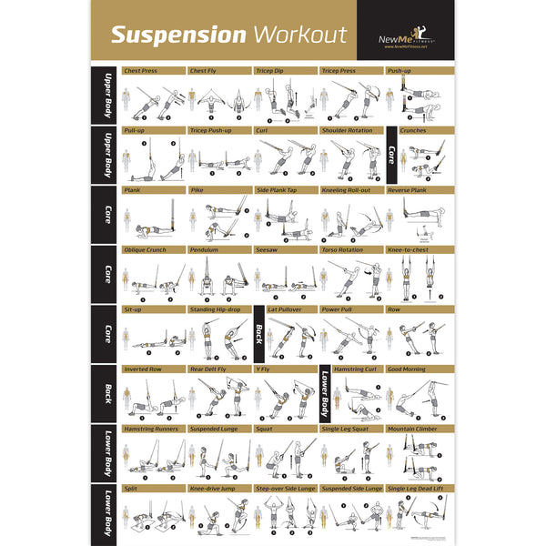 "TRX Suspension Exercise Poster - Laminated - 20""x 30"""