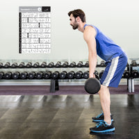 Dumbbell Exercise Poster Vol. 2 - Laminated
