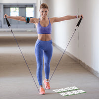 "Resistance Band Exercise Cards - Plastic - 3.5""x 5.5"""