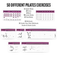 "3-Pack Exercises Cards Yoga, Pilates, Stretching Plastic - 3.5""x 5.5"""