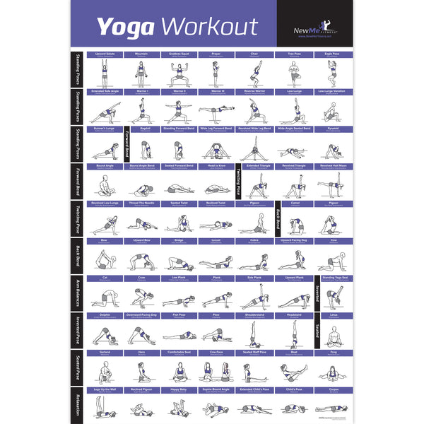 "Yoga Exercise Poster - Laminated - 18""x 27"""