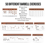 "3-Pack Exercises Cards Barbell, Dumbbell, Kettlebell Plastic - 3.5""x 5.5"""