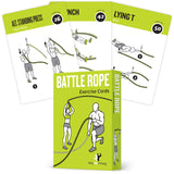 "3-Pack Exercises Cards Cable, Battle Rope, Gym Plastic - 3.5""x 5.5"""