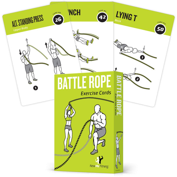 "Battle Rope Exercise Cards - Plastic - 3.5""x 5.5"""